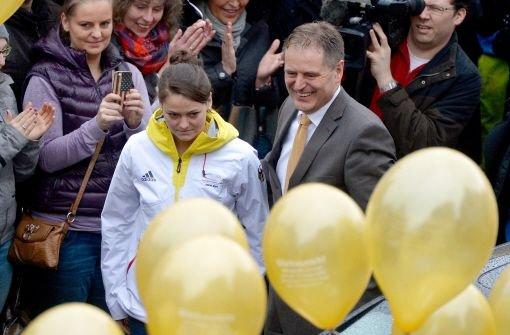Schwäbisch Gmünd feiert Olympiasiegerin