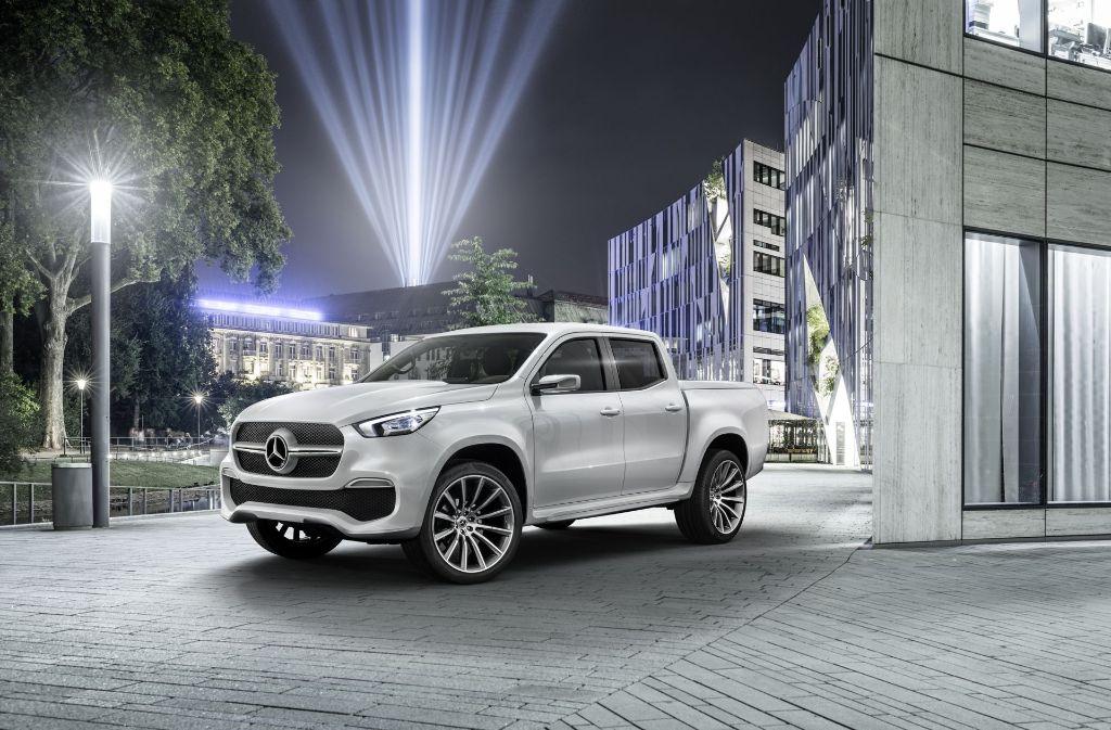 Eine der Neuheiten  in  Frankfurt:   der erste Pickup von Mercedes-Benz mit dem Namen  X-Klasse. Foto: