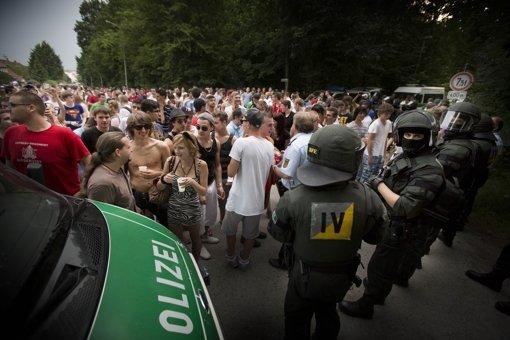 Mit Spaß hat die Party für die Polizei wenig zu tun gehabt. Foto: Gottfried Stoppel