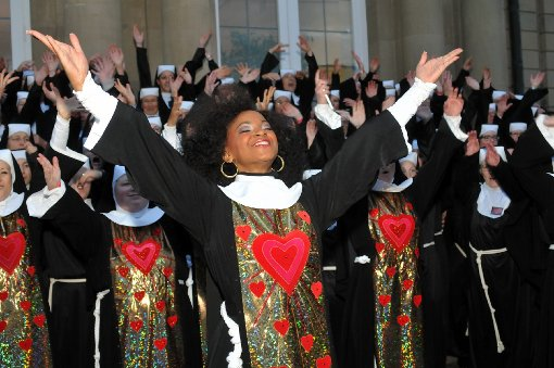 Nonnen machen Stuttgart unsicher