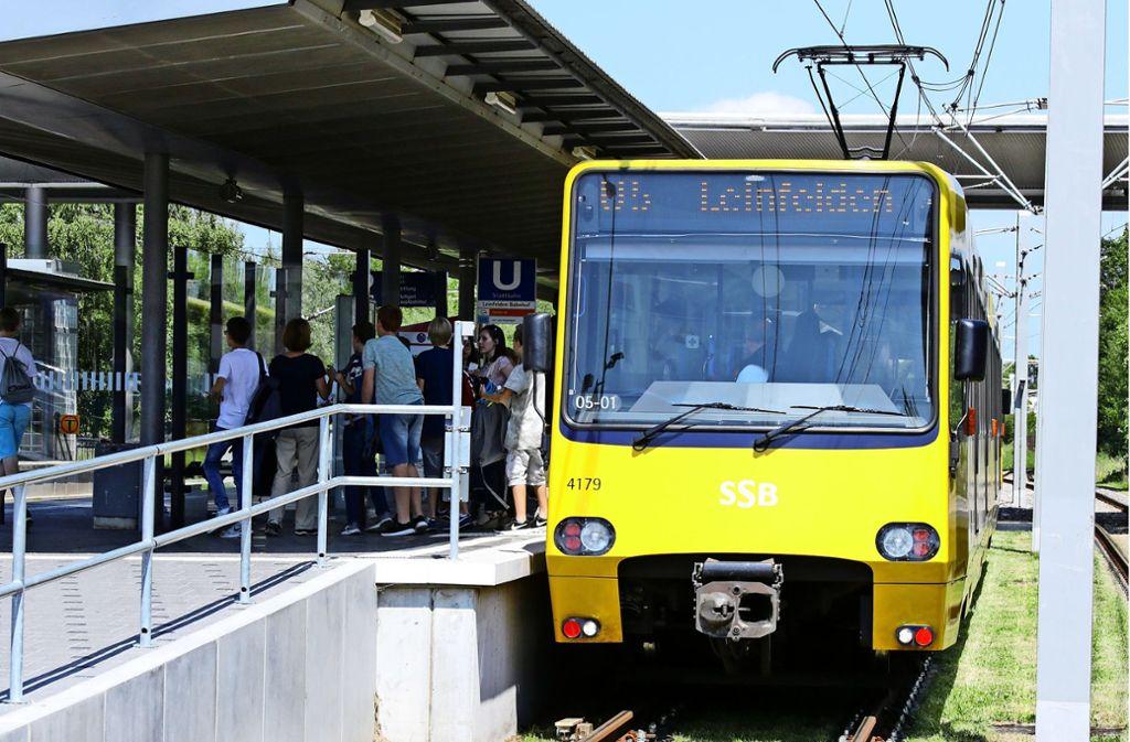 Bislang endet die U5 am Bahnhof in Leinfelden, das soll sich ändern. Foto: Thomas Krämer