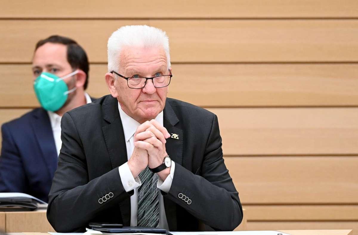 Ministerpräsident Winfried Kretschmann Foto: dpa/Bernd Weissbrod