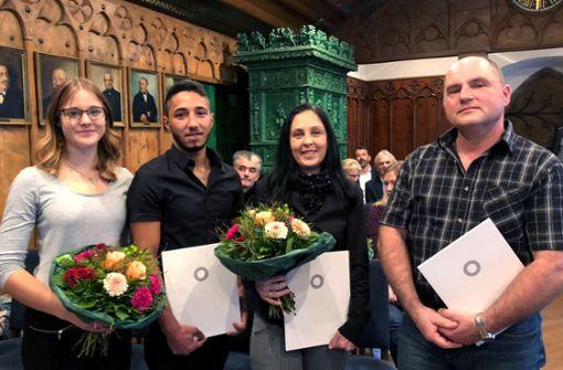 Vier Helfer für ihre Zivilcourage geehrt