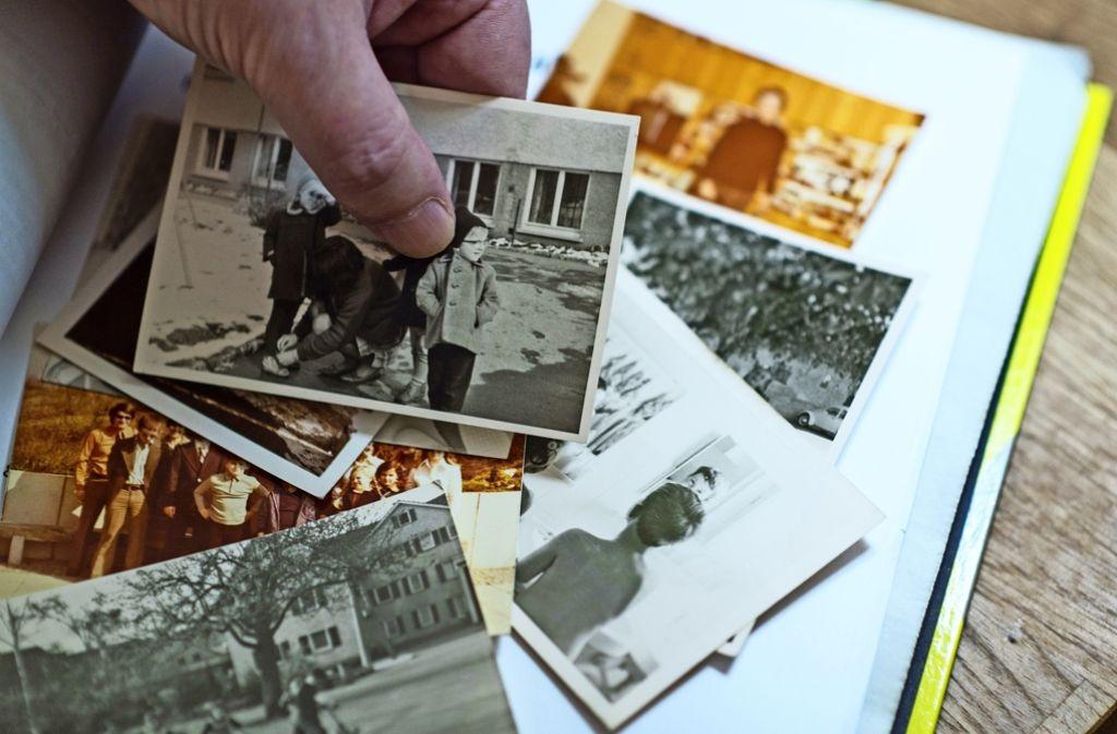 Detlev Zander mit Erinnerungen an seine Heimzeit in Korntal. Foto: dpa
