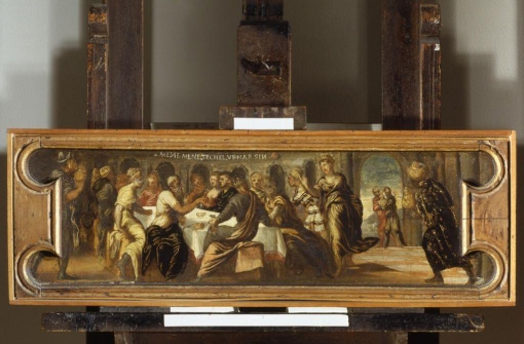 "Entwendet aus dem Museo del Castelvecchio: Tintorettos ""Bankett des Balthasar"" Foto: dpa"