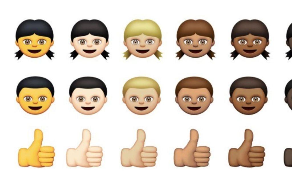 Bildgewordene Politische Korrektheit: verschiedenfarbige Emoticons Foto: Apple