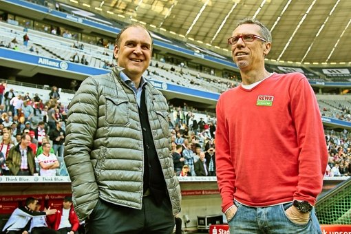 Kölner  Erfolgsduo: Jörg Schmadtke und Peter Stöger (rechts) Foto: