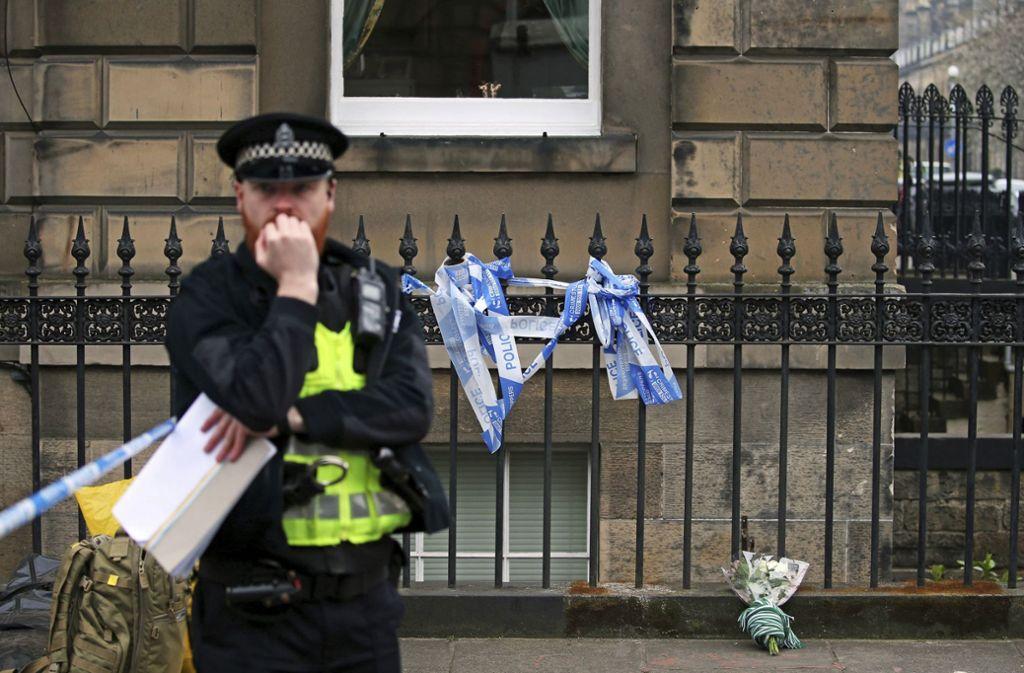Der Tatort im Herzen Edinburghs. Hier wurde Schauspieler Bradley Welsh erschossen. Foto: AP