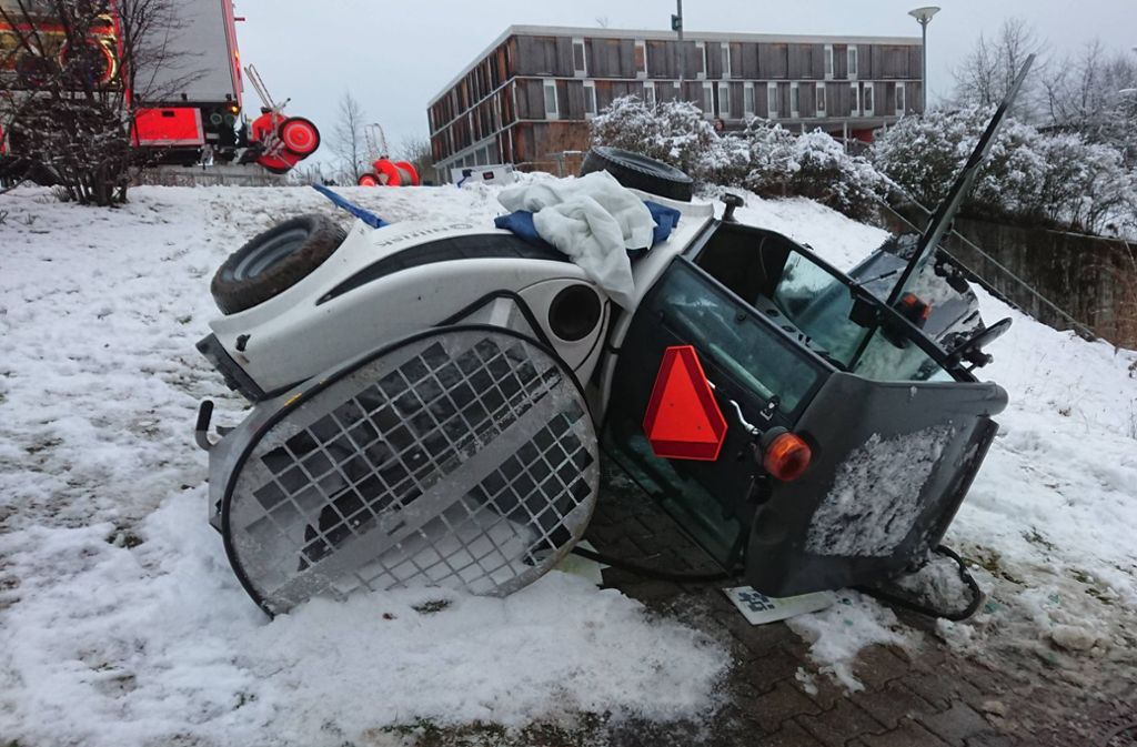 Der Unfall ereignete sich in Stuttgart-Vaihingen. Foto: 7aktuell.de/Oskar Eyb
