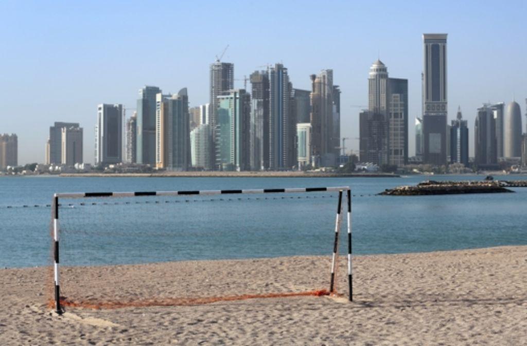 Auch in Doha, der Hauptstadt von Katar, wird für die WM gebaut. Foto: dpa