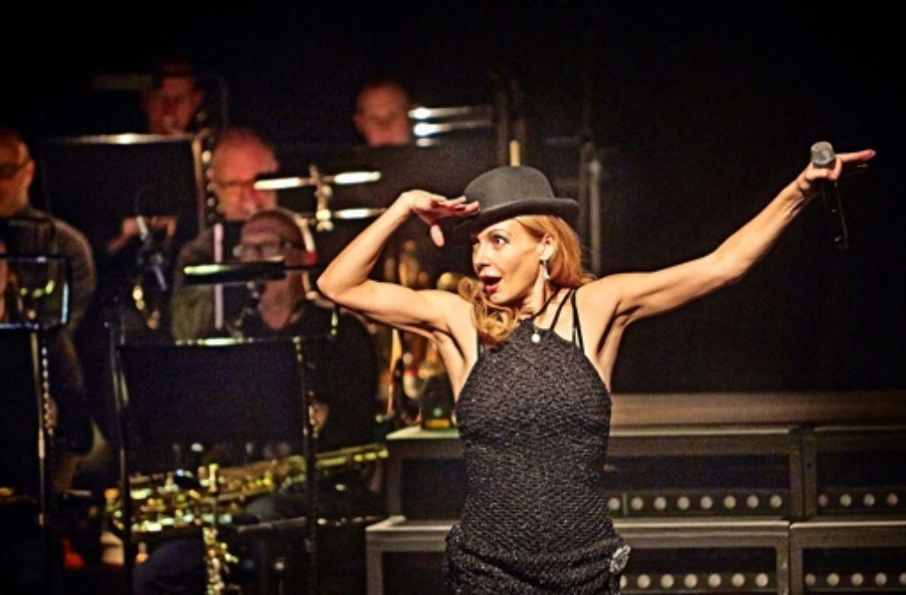"Musical-Star Ute Lemper präsentiert ""Chicago"" in Stuttgart. Foto: Heinz Heiss"