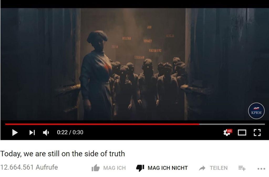 Das Video der polnischen Regierung wurde schon 12,7 Millionen Mal geklickt Foto: Youtube