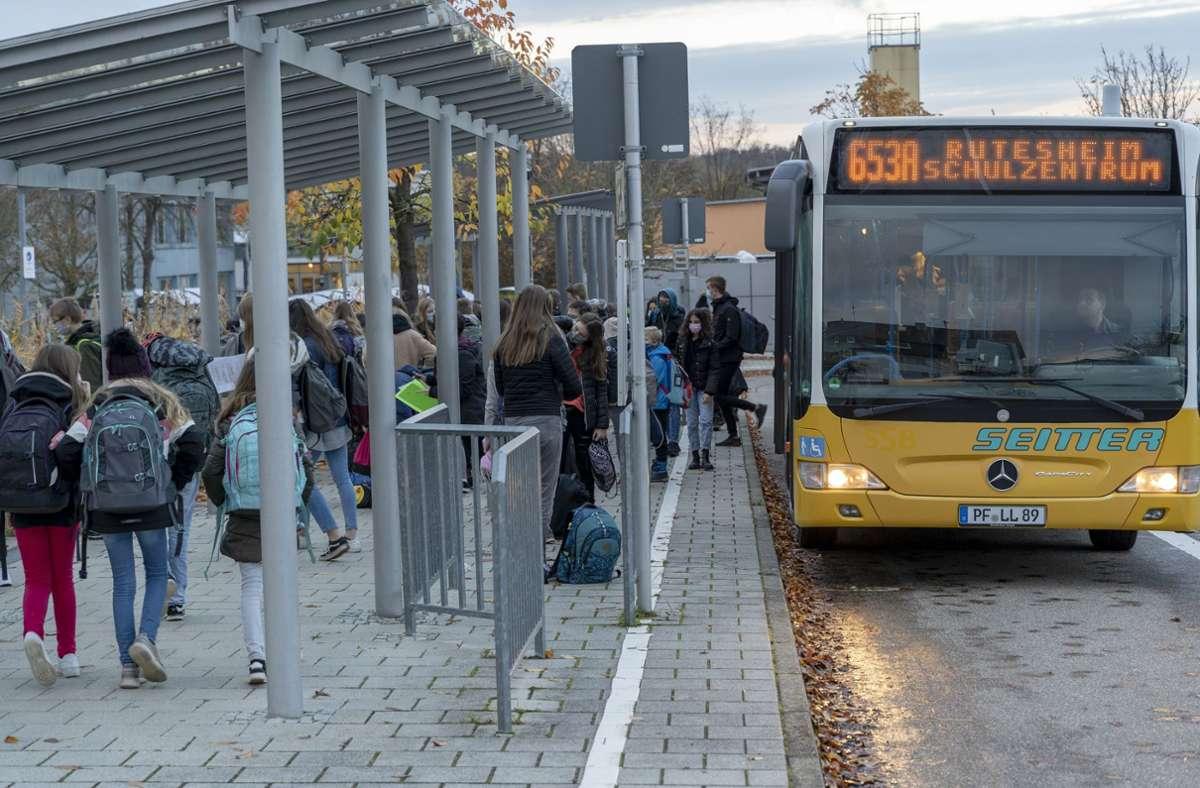 Die speziellen Schulbuslinien im VVS sind wegen des Lockdowns nicht mehr unterwegs. Foto: factum/Jürgen Bach
