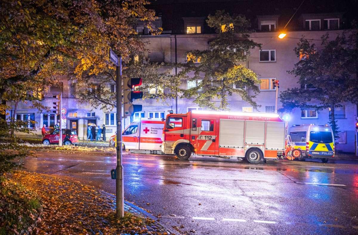Der Unfall ereignete sich in der Rotenwaldstraße im Stuttgarter Westen. Foto: 7aktuell.de/Simon Adomat
