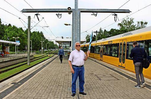 Planlos auf dem Bahnsteig