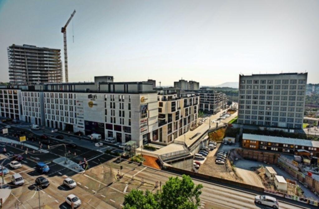 Der Verkauf von Baufeld fünf (im Bild rechts unten) rückt näher. Foto: Lichtgut/Max Kovalenko