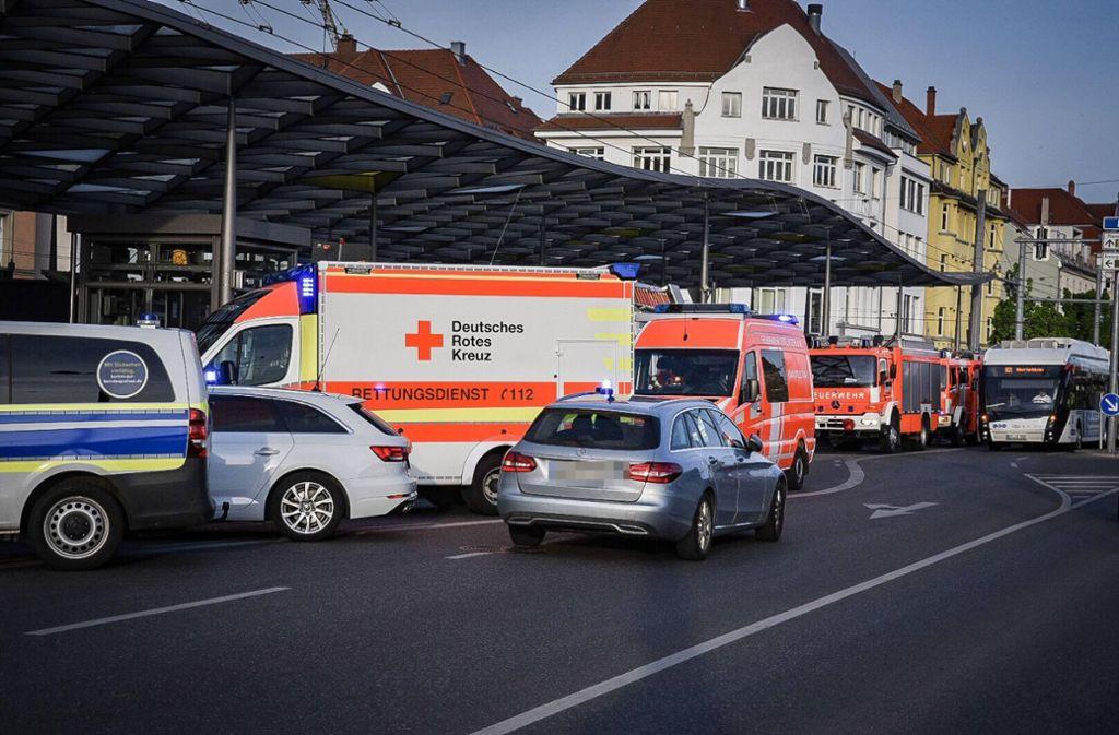 Am Esslinger Bahnhof wurde ein junger Mann von einem Zug erfasst. Foto: 7aktuell.de/Marc Gruber