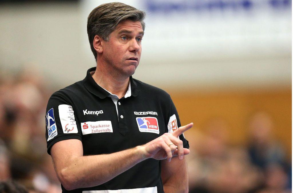 War bisher weder als Spieler noch als Trainer in der Porsche-Arena: Balingens Trainer Runar Sigtryggsson. Foto: Pressefoto Baumann