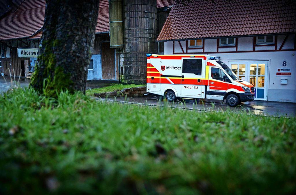 Die neue Rettungswache im  Sulzbacher Teilort Lautern war bis vor kurzem noch ein Malerbetrieb. Foto: Gottfried Stoppel