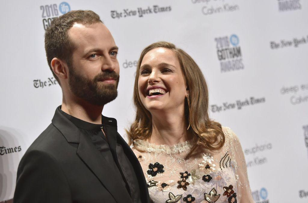Natalie Portman und Ehemann Benjamin Millepied erschienen gemeinsam auf dem roten Teppich der Independent Film Awards. Foto: Invision