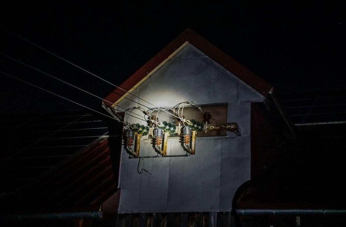 Ein technischer Defekt löste Lichtblitze an einer Trafostation in Herrenberg aus. Foto: SDMG/Dettenmeyer