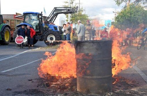 Blockade gegen deutsche Lkw