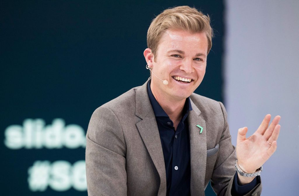 Nico Rosberg nahm die Unterbrechung mit Humor Foto: AFP
