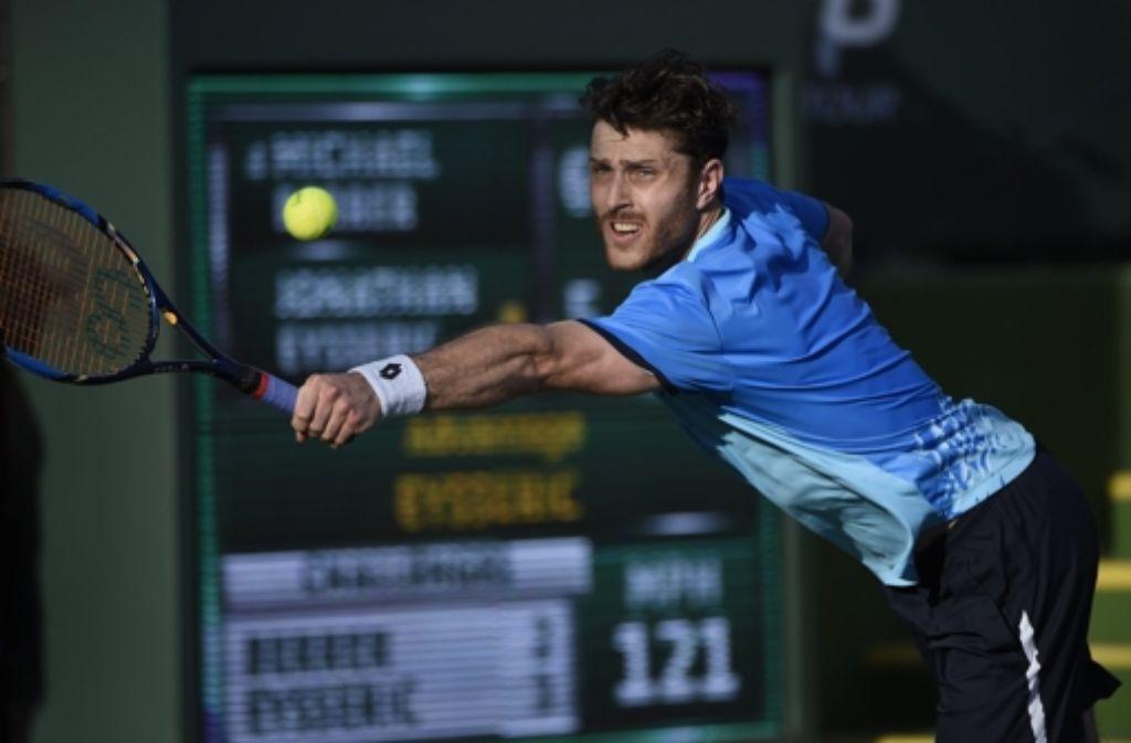 Der Stuttgarter Michael  Berrer ist in Indian Wells eine Runde weiter gekommen. Foto: EPA