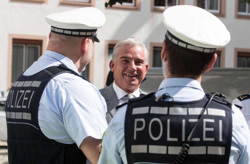 Innenminister Thomas Strobl (CDU) will der Polizei zur Terrorabwehr weitere Befugnisse geben und deshalb das Polizeigesetz ändern. Foto: dpa/Patrick Seeger