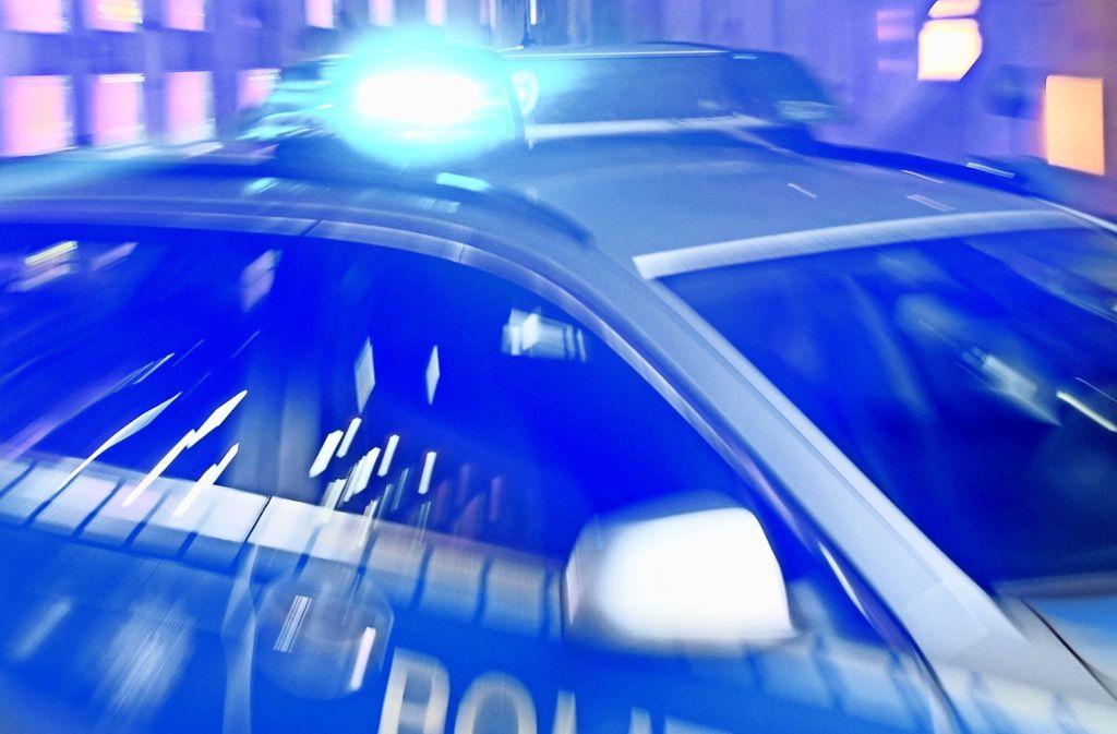 Die Polizei fahndete mit  mehreren Streifenwagen nach den mutmaßlichen Tätern. Foto: dpa/Carsten Rehder