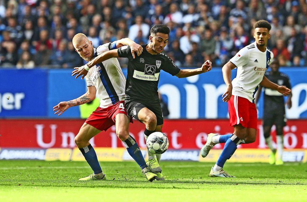 Der Hamburger SV und der VfB Stuttgart gehen als Favoriten in die Rückrunde, doch das Ringen um die Aufstiegsplätze wird ein Mehrkampf. Foto: Baumann