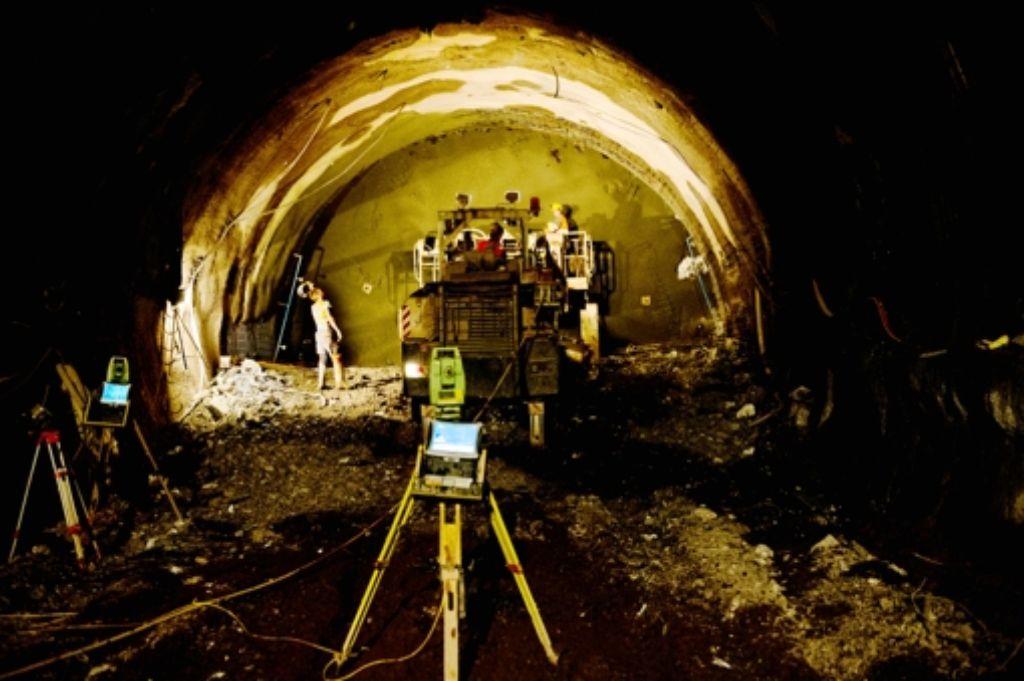 In Wangen wird am Tunnel in Richtung Stadtmitte gearbeitet. Foto: Lichtgut/Volker Hoschek