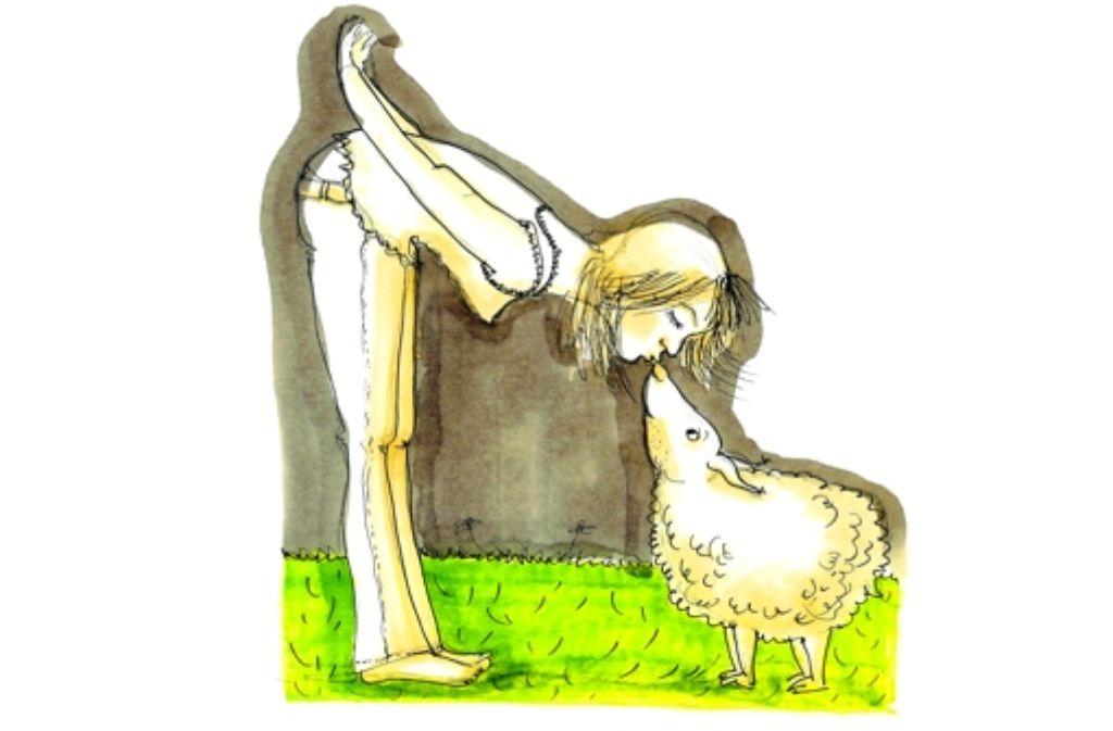 """Die """"aufgeklärte Vegetarierin"""" versteht Schafe und isst sie deshalb nicht. Foto: Pfohl"""