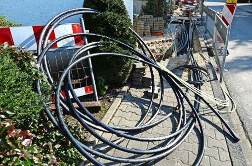 Neue Stromleitungen in der Wernerstraße