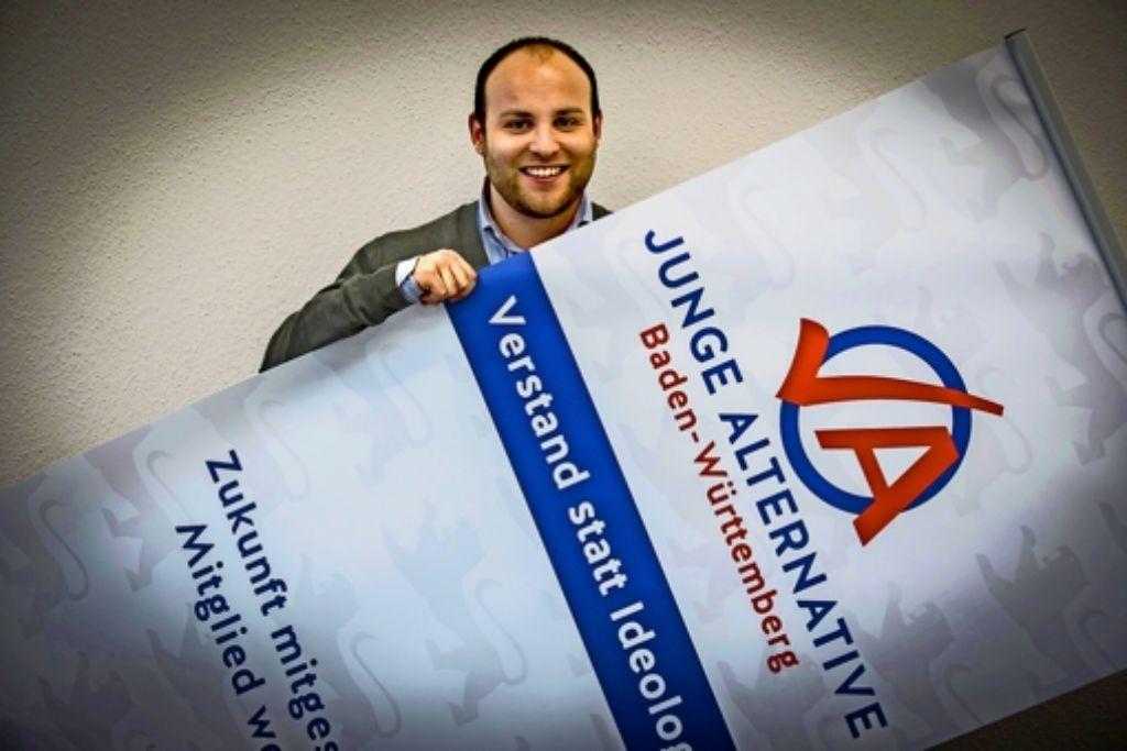 Der 23-jährige Markus Frohnmaier  ist Landesvorsitzender des AfD-Nachwuchsverbandes. Foto: Lichtgut/Achim Zweygarth