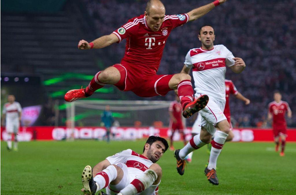 Der FC Bayern strauchelte, fiel aber nicht an diesen Abend in München. Foto: Baumann