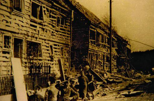 Bombenhagel  auf  die Reformsiedlung