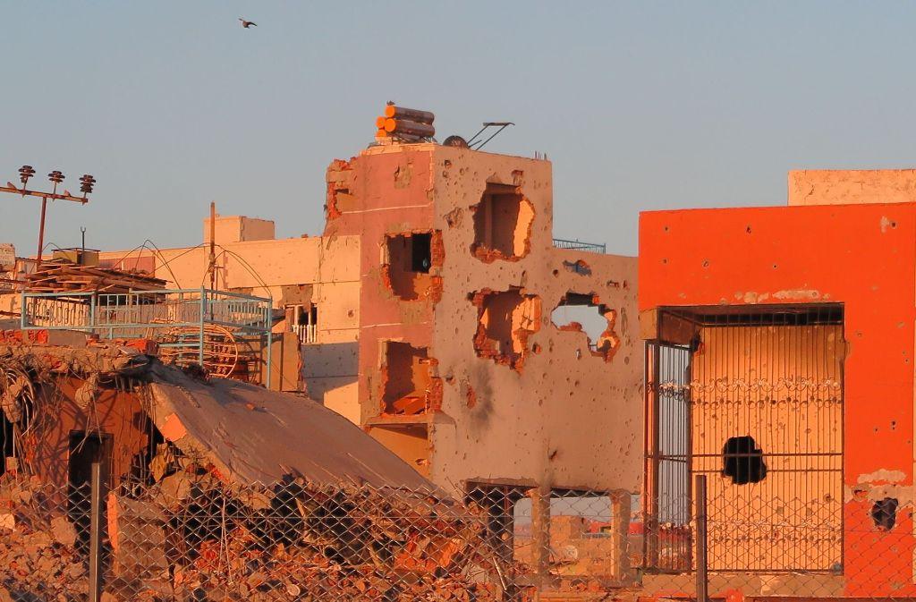 Ganze Stadtviertel in den türkischen Kurdengebieten liegen in Trümmern – wie hier in Nusaybin. Foto: dpa