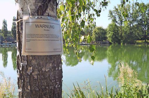 Stadt warnt vor Wasserkontakt