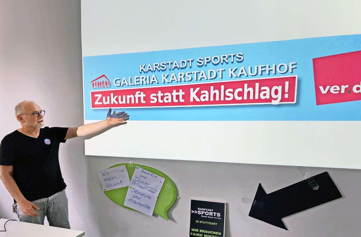 Gewerkschaftsmann Cuno Brune-Hägele kämpft    für die Kaufhof-Mitarbeiter. Foto: Martin Haar