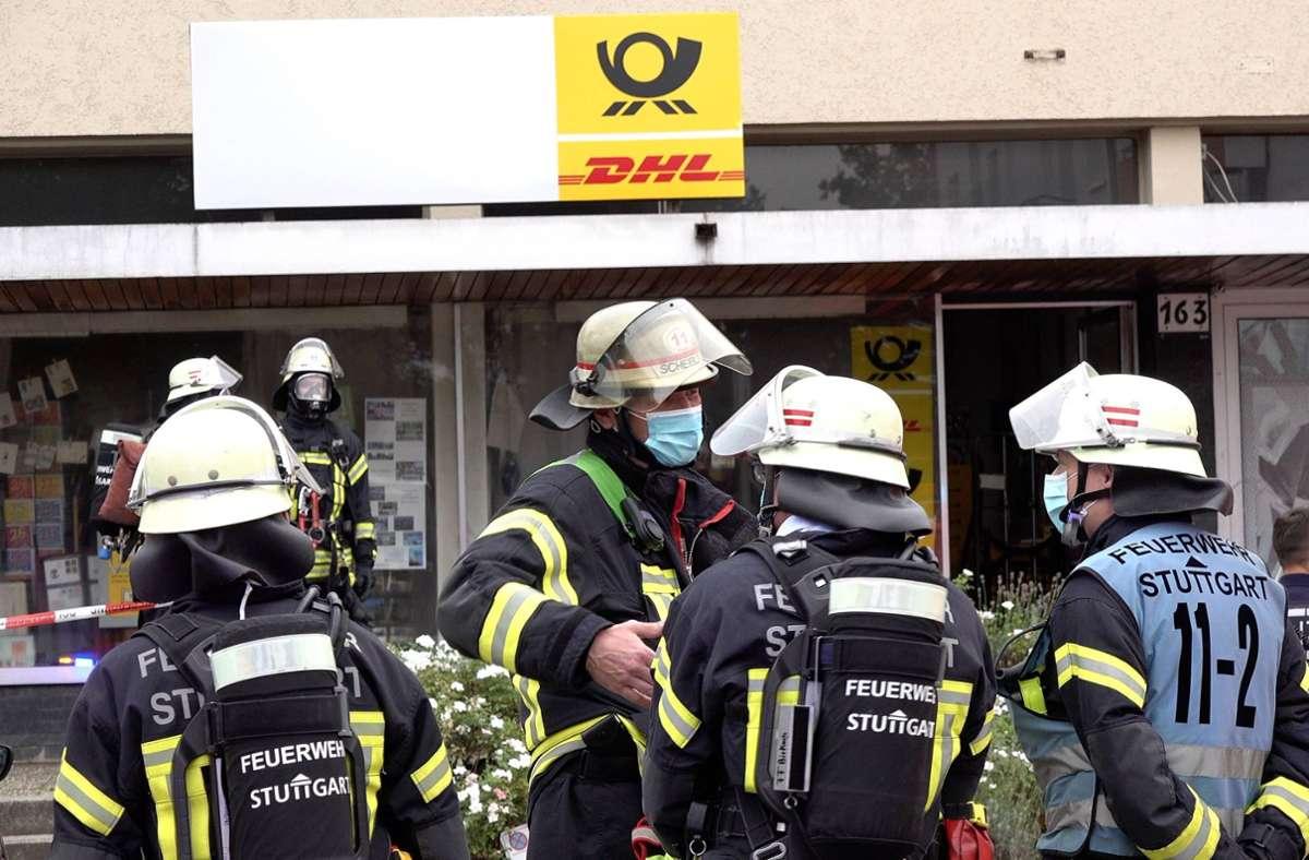 Feueralarm am Montag auf dem Fasanenhof: Die Wehr konnte den Brand in der Post aber schnell löschen. Foto: 7aktuell.de/Alexander Hald