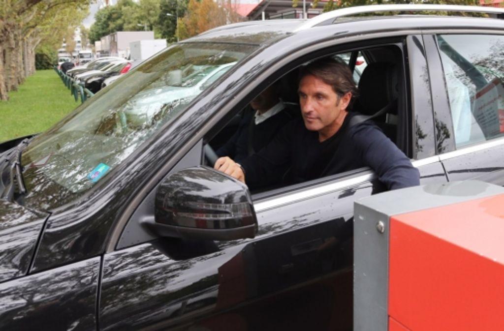 Ein Nachfolger für den 47-jährigen Bruno Labbadia steht noch nicht fest. Montagvormittag hat er das Trainingsgelände des VfB verlassen. Foto: Pressefoto Baumann