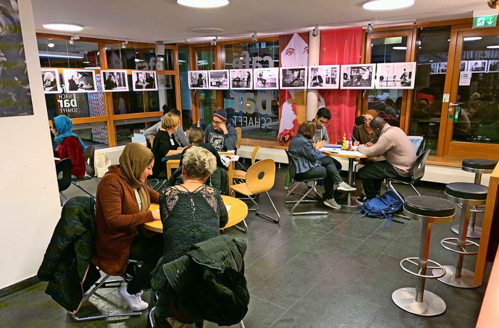 Auch diese Woche war das Lerncafé wieder gut besucht. Foto: Reinhard Otter
