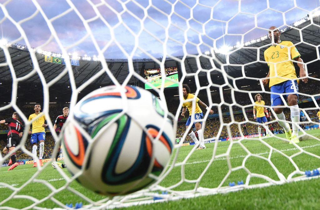 Ein Spiel, das Statistiker wohl so nicht auf der Rechnung hatten: Das 7:1 Deutschlands gegen Brasilien bei der WM 2014. Foto: dpa