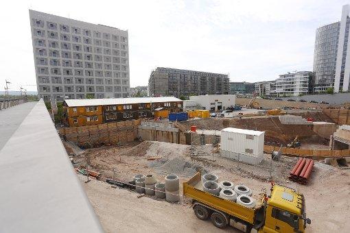 Die Milaneo-Baustelle im Juni