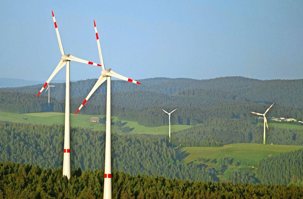 Windräder (hier im Schwarzwald) sind auch in der Region umstritten. Foto: dpa