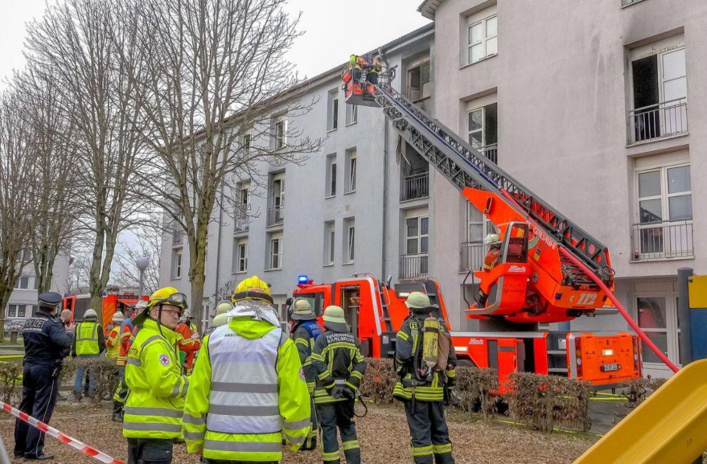 In einer Erstaufnahmestelle für Flüchtlinge in Karlsruhe hat es gebrannt. Foto: dpa/Aaron Klewer
