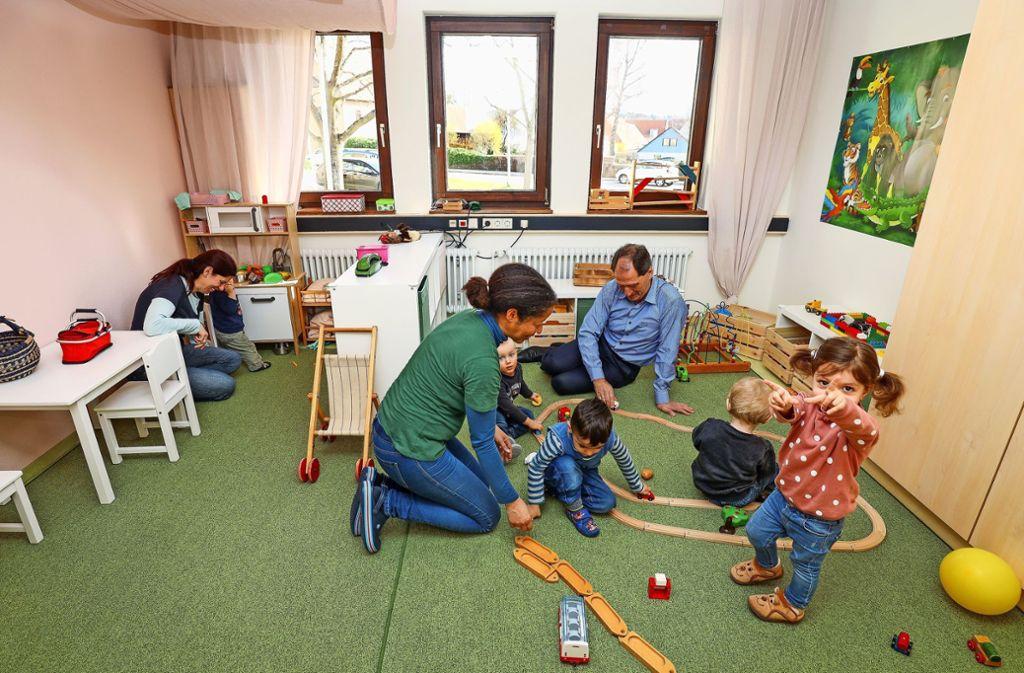 Im März wurde in der früheren Verwaltungsstelle von Perouse ein Tapir (Tagespflege  in anderen geeigneten Räumen) für Kleinkinder   eingerichtet. Foto: factum/Archiv
