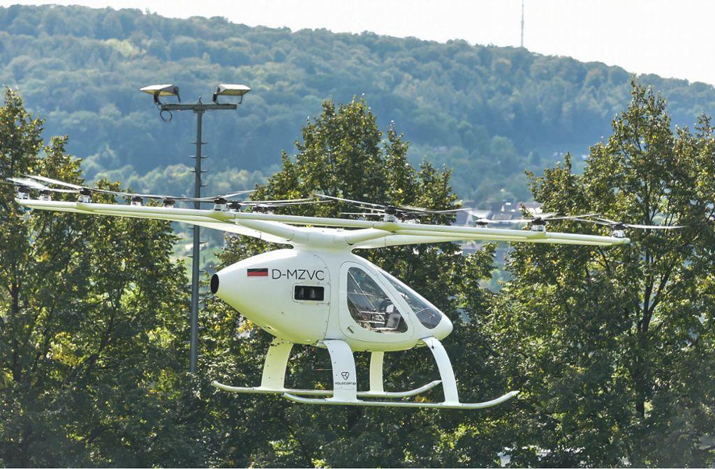 Das Flugtaxi hat im Stuttgarter Kessel abgehoben. Foto: Lichtgut/Max Kovalenko