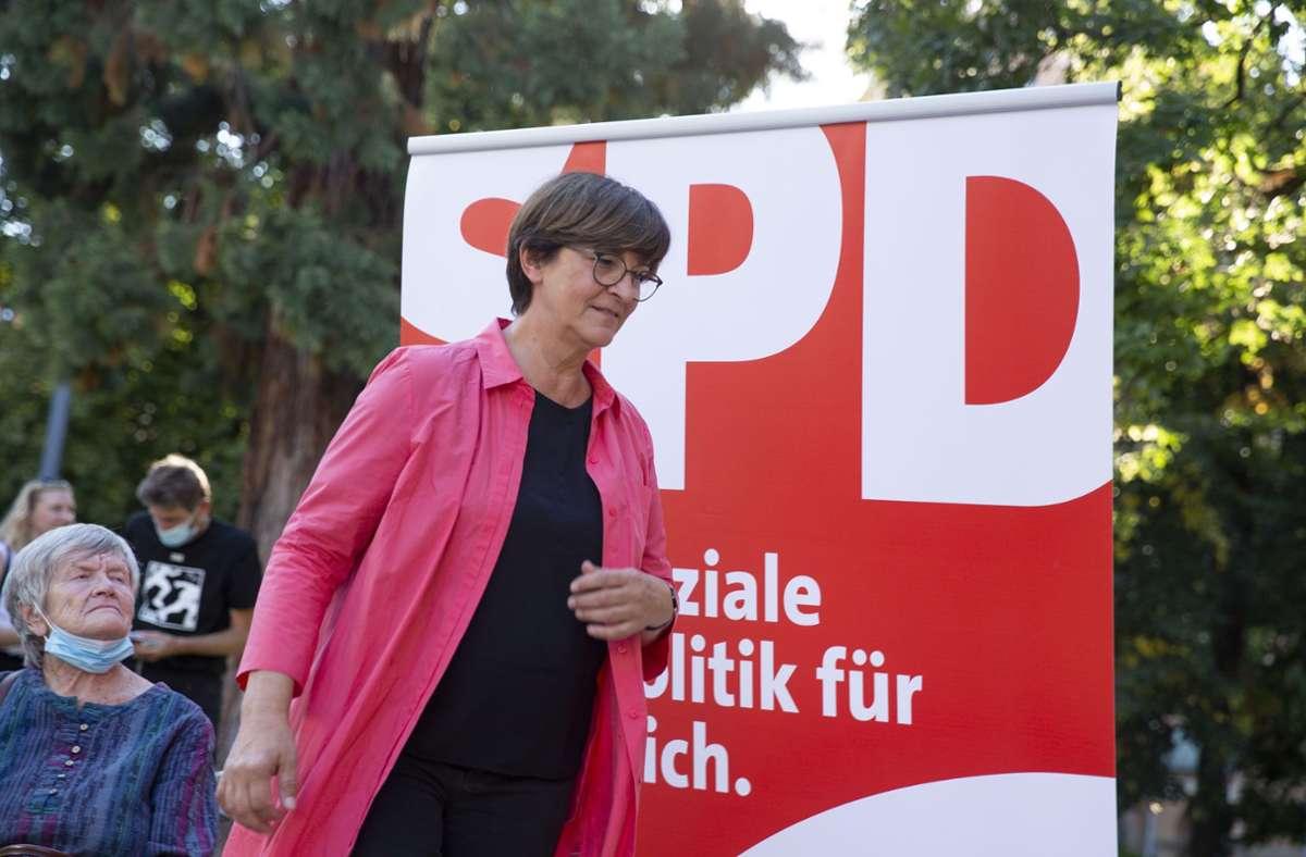 Saskia Esken am Mittwoch in Stuttgart Foto: LICHTGUT/LICHTGUT/Leif Piechowski